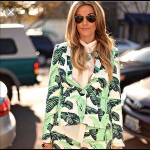 Juicy Couture blazer and short set palm print